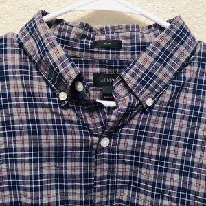 Men's plaid Jcrew slim fit shirt NWT